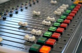 Photo of radio station controls